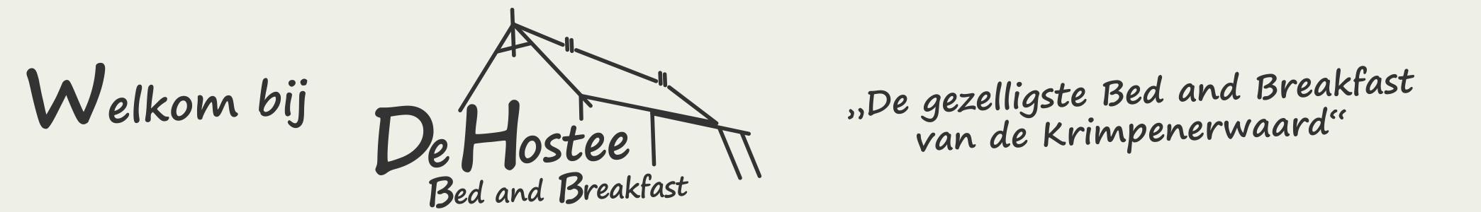 Welkom bij DE HOSTEE logo